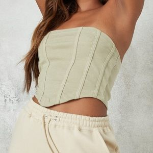 missguided green corset